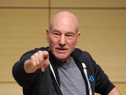 Patrick Stewart's Golden Globe celebration makes us love him even more
