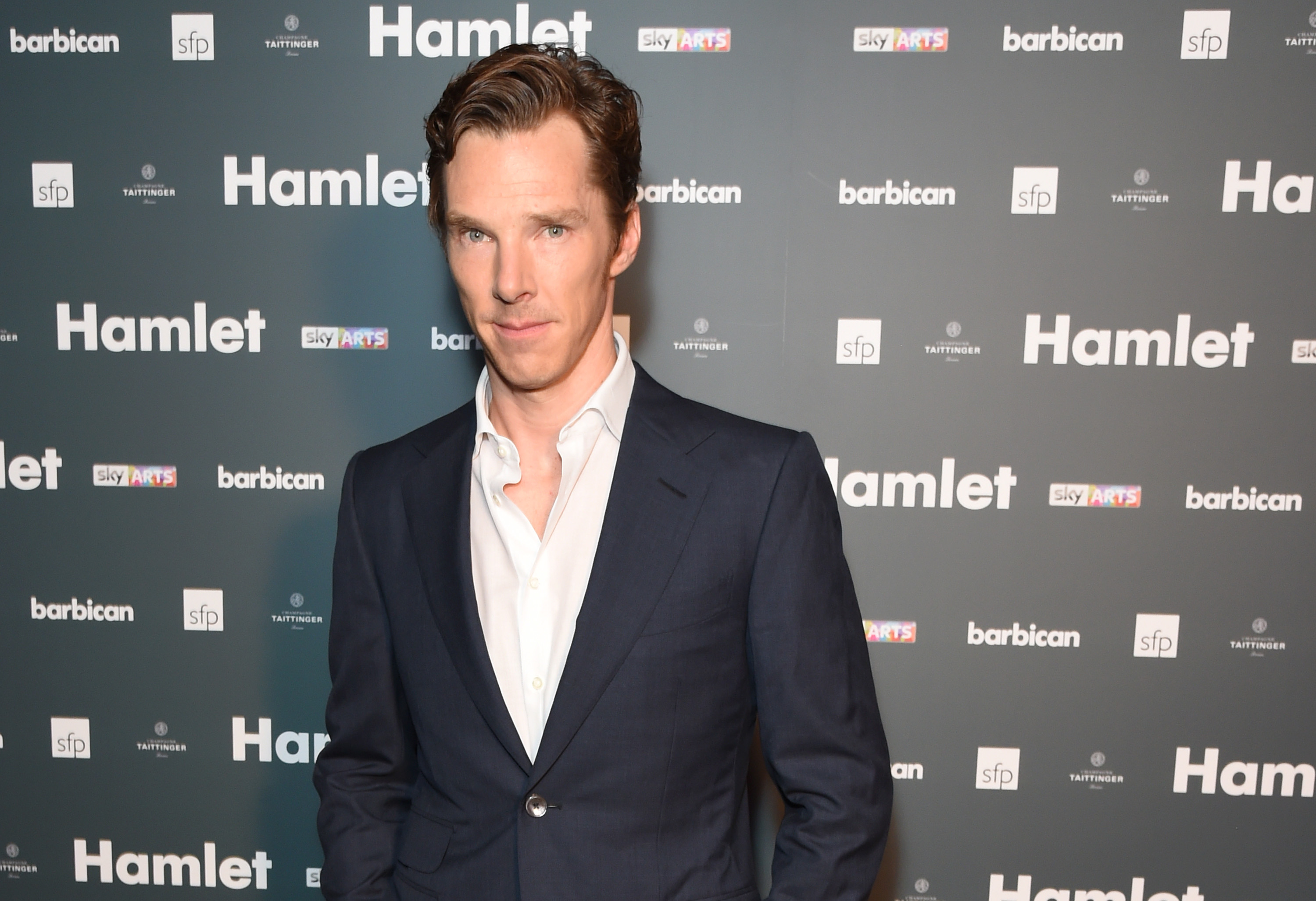 "LONDON, ENGLAND - AUGUST 25: Benedict Cumberbatch attends an after party following the press night performance of ""Hamlet"" at the Barbican Centre on August 25, 2015 in London, England. (Picture: Getty Images)"