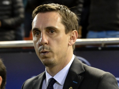 Unhappy Valencia fans whistled Gary Neville during his first game in charge