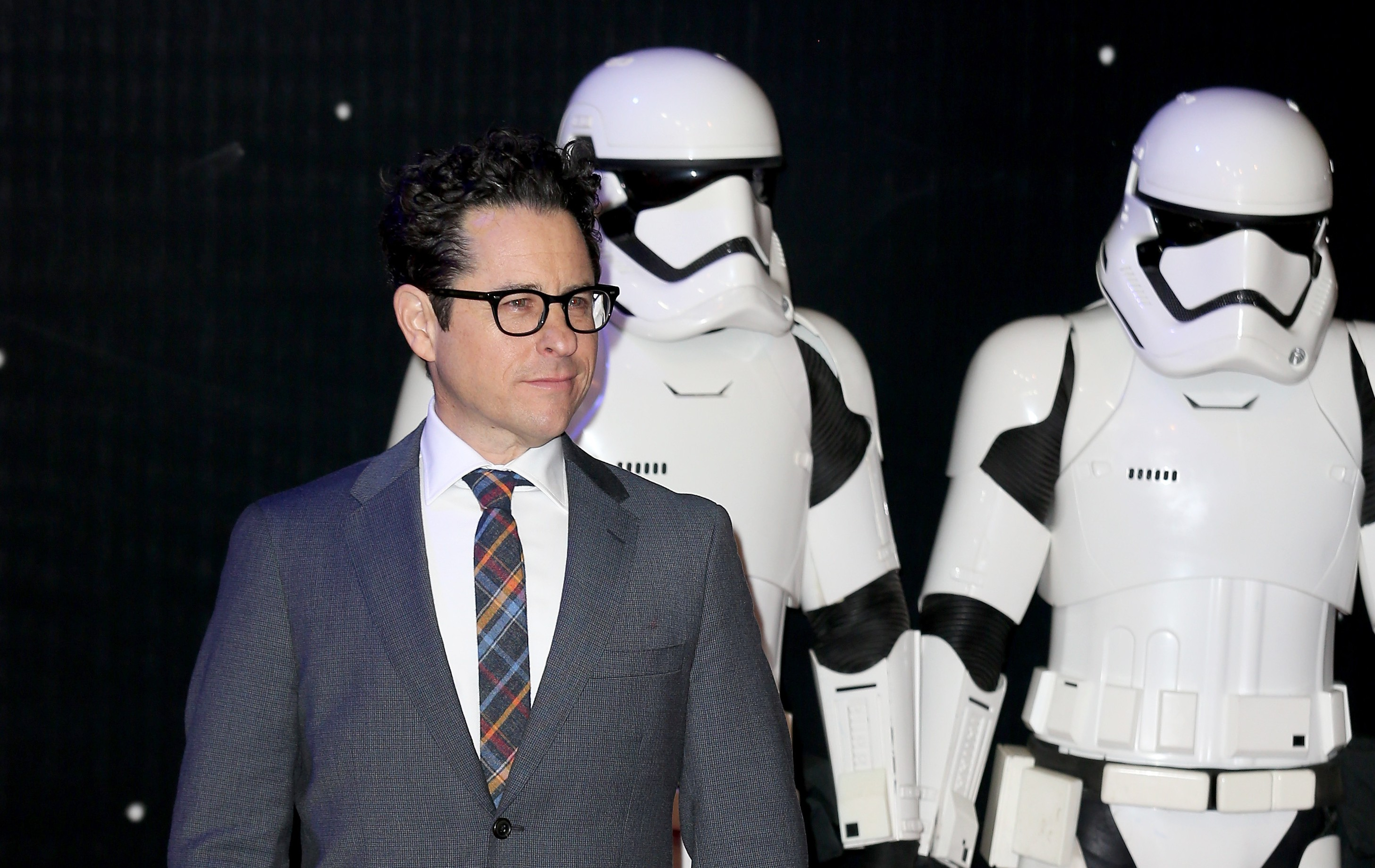 "LONDON, ENGLAND - DECEMBER 16: Director J.J. Abrams attends the European Premiere of ""Star Wars: The Force Awakens"" at Leicester Square on December 16, 2015 in London, England. (Photo by Chris Jackson/Getty Images)"