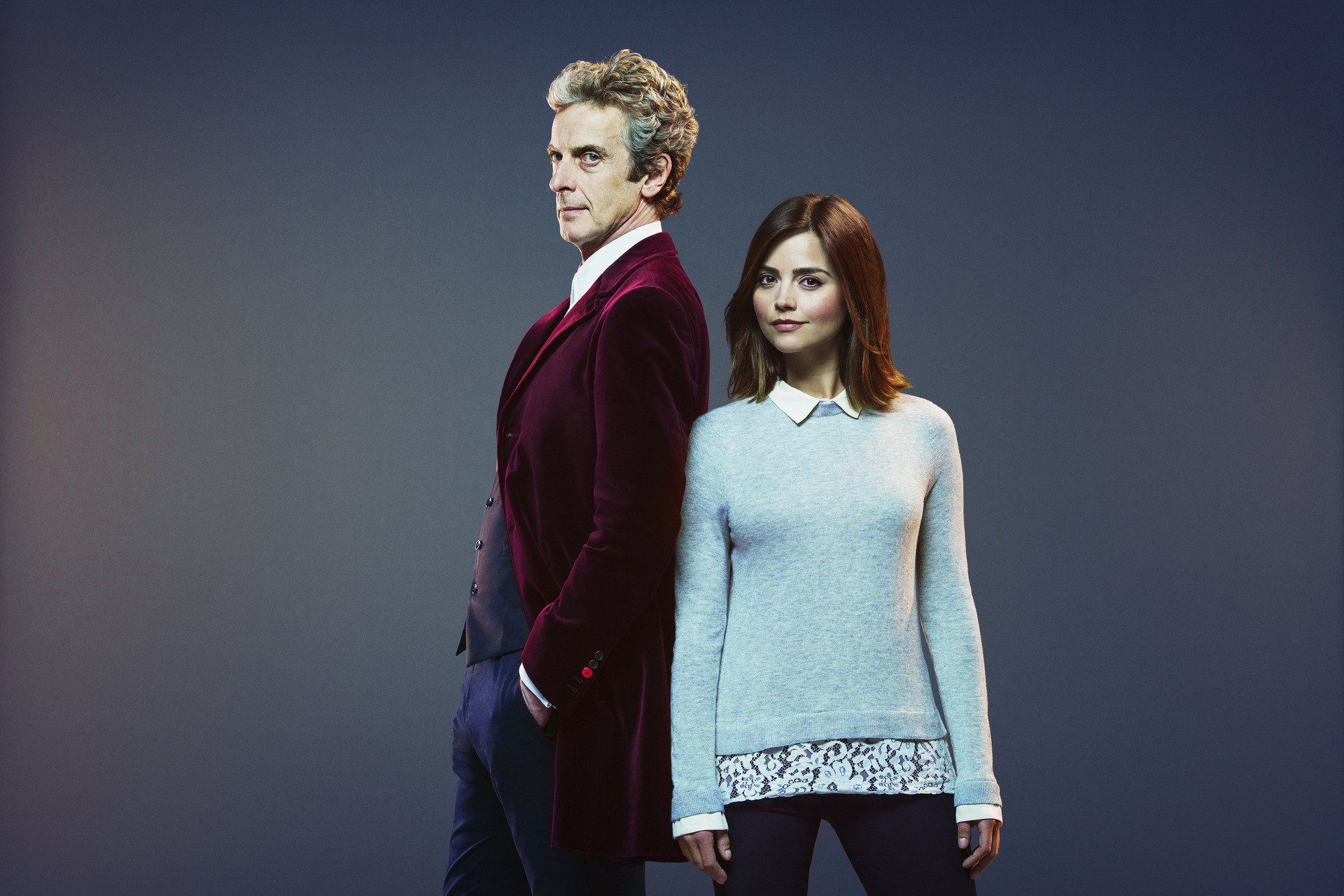 WARNING: Embargoed for publication until 00:00:01 on 15/09/2015 - Programme Name: Doctor Who - TX: 19/09/2015 - Episode: n/a (No. 1) - Picture Shows: Doctor Who (PETER CAPALDI), Clara (JENNA COLEMAN) - (C) BBC - Photographer: David Venni