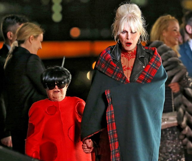 Picture Shows: Janette Touch 'Wee Jimmy Krankie', Joanna Lumley November 10, 2015 First pictures of 'Wee Jimmy Krankie', Brit Model Lily Cole and 'Game of Thrones' Star Gwendoline Christie as they make their cameo appearance on the 'Absolutely Fabulous: The Movie' outside a nightclub in London, England. The stars walked a mock red carpet event and were interviewed by Richard Arnold as they arrived at the event. Exclusive All Rounder WORLDWIDE RIGHTS FameFlynet UK © 2015 Tel : +44 (0)20 3551 5049 Email : info@fameflynet.uk.com