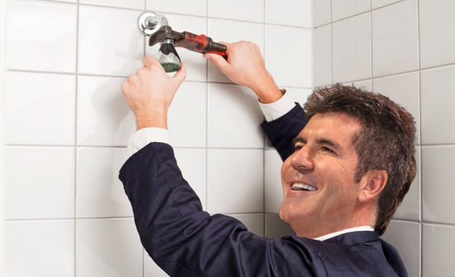 Simon Cowell can't even afford a new boiler - contestants are having cold showers Credit: Getty Images