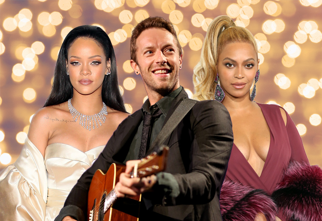 Coldplay are doing SuperBowl with Rihanna and Beyonce collaboration Credit: Getty Images