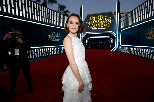 """Actress Daisy Ridley arrives at the premiere of """"Star Wars: The Force Awakens"""" in Hollywood, California"""