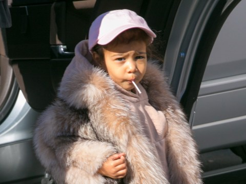 So, North West just went to the playground dressed in a fur coat