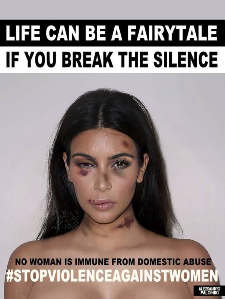 Kim Kardashian domestic violence campaign