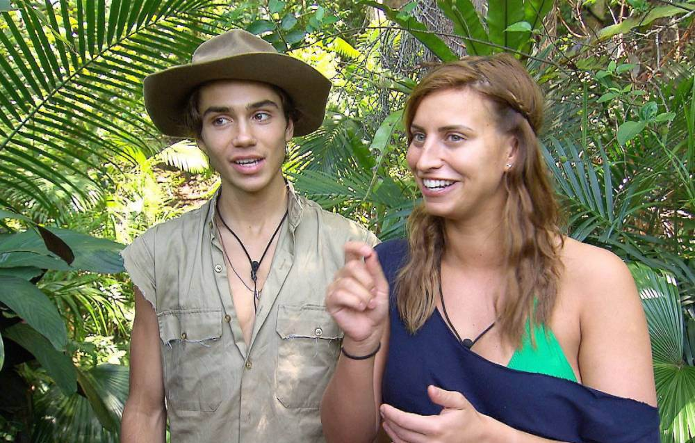 EMBARGO, NOT TO BE USED BEFORE 20:30 01 Dec 2015 - EDITORIAL USE ONLY - NO MERCHANDISING Mandatory Credit: Photo by ITV/REX Shutterstock (5460085ba) George Shelley and Ferne McCann 'I'm A Celebrity...Get Me Out Of Here!' TV show, Australia - 01 Dec 2015 Pre-Bushtucker Trial - Badvent Calendar: Vicky Pattison gets ready to head off