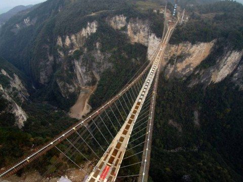 China completes world's longest and highest glass walkway and now we all have vertigo