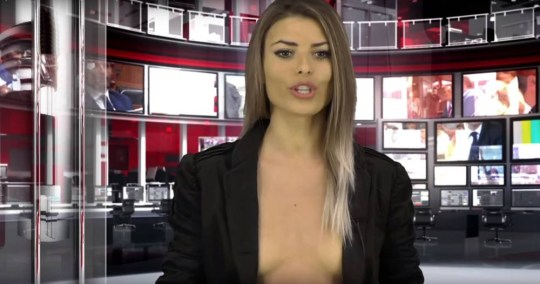 Topless Albanian newsreader Enki Bracaj suspended for Playboy shoot
