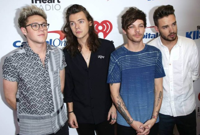 Mandatory Credit: Photo by Jim Smeal (5479709cl) Niall Horan, Harry Styles, Louis Tomlinson and Liam Payne of One 102.7 KIIS FM Jingle Ball, Arrivals, Los Angeles, America - 04 Dec 2015