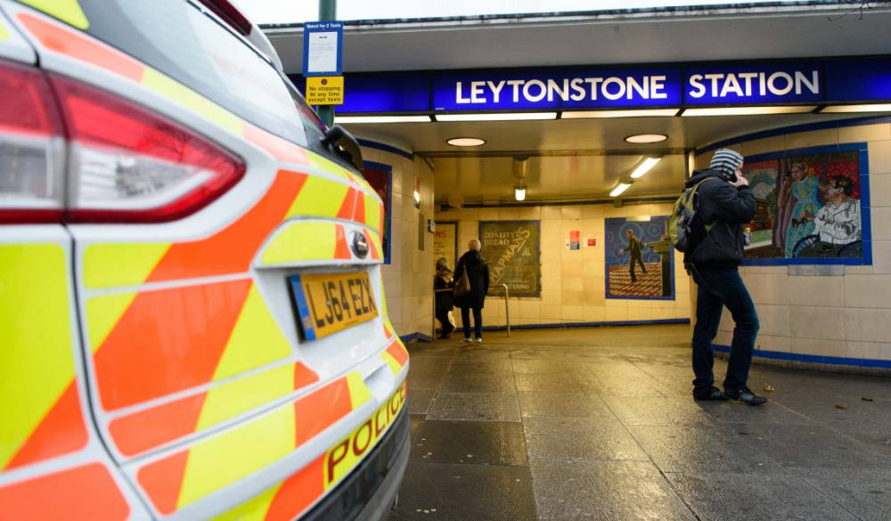 """A police car is seen parked outside Leytonstone station in north London on December 6, 2015. Police were called to reports of people being attacked at Leytonstone around 19:00 GMT on December 5. The police have said that they are considering a knife attack the previous evening as a """" terrorist incident"""" after reports that the man reportedly shouted """"this is for Syria"""". The man was arrested after being Tasered by police. One man suffered serious knife injuries while two others received minor injuries. / AFP / LEON NEALLEON NEAL/AFP/Getty Images"""