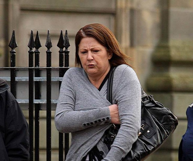 PIC OF ALISON MCGUIRE, LEAVING HAMILTON SHERIFF COURT, AFTER PLEADING GUILTY TO SMUGLING DRUGS AND A MOBILE PHONE HIDDEN IN HER VAGINA INTO SHOTTS PRISON.nPIC SAM HARDIE.nSEE PRESSTEAM COPY FOR DETAILS.