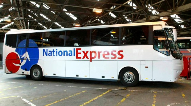 "File photo of a National Express coach. See SWNS story SWCOACH: A Muslim was thrown off a National Express coach after women passengers complained he 'looked shifty' and made them feel uncomfortable. The man was escorted off the London-bound service moments after he boarded in Bristol. One passenger said a group of women sitting at the front of the coach had been ""making their feelings very obvious"" and were ""silent and staring at him."" One of the women spoke to the driver and seconds later a member of National Express staff escorted the man off the half-empty coach at Bristol bus station."
