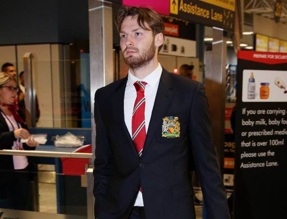 Mandatory Credit: Photo by Picturematt/REX Shutterstock (5480111ab) Nick Powell Manchester United football club at Manchester Airport, Britain - 07 Dec 2015
