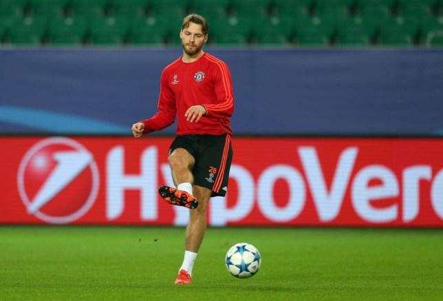 Nick Powell of Manchester United during the press conference at The Volkswagen Arena, Wolfsburg on 7th December 2015