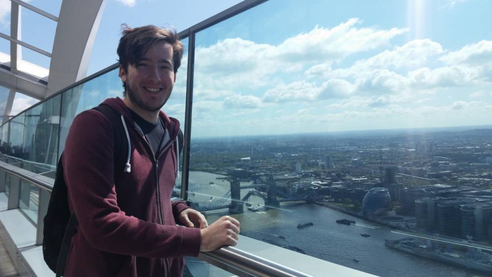 A graduate trapped under the wheels of a bus was fatally crushed when the panicking driver mistakenly lowered the vehicle rather than raising it, an inquest heard. David Wood (Pictured), 22, was hit by the double decker bus the day after finding out he had secured his 'dream job' as a radiographer job at St Bartholomewís Hospital in central London.