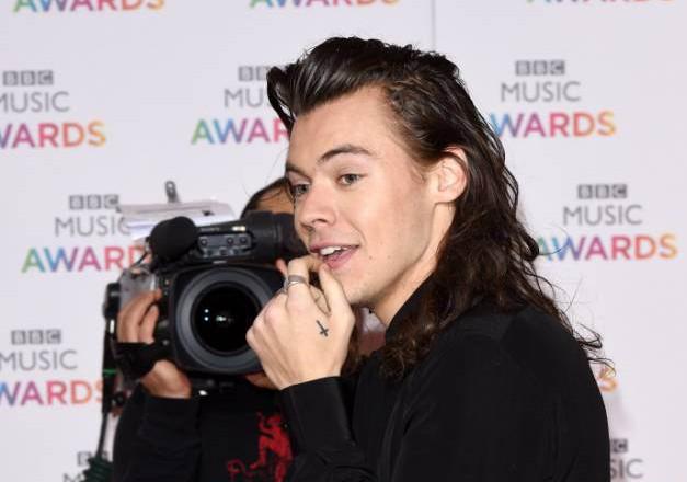 Mandatory Credit: Photo by David Fisher/REX Shutterstock (5490662i) One Direction - Harry Styles BBC Music Awards, Birmingham, Britain - 10 Dec 2015
