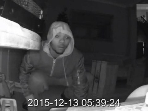 CCTV catches thieves stealing presents from under the tree just days before Christmas