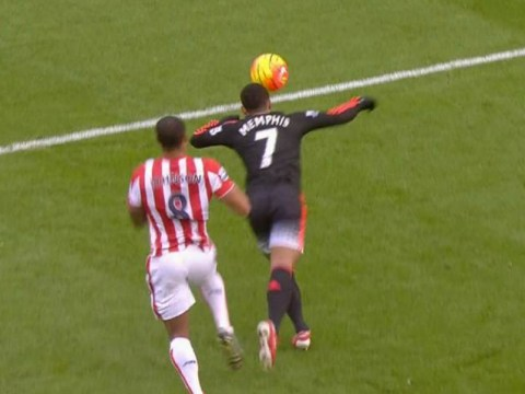 Memphis Depay sums up Manchester United career so far with awful back-pass v Stoke