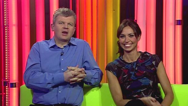 Adrian-Chiles-and-Christine-Bleakley-are-the-presenters-of-The-One-Show-in-2008
