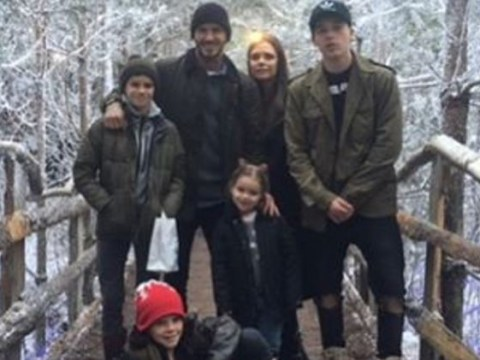 The Beckhams have a Christmas message for you all…