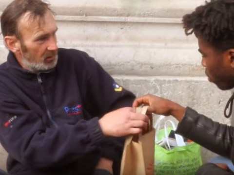 Bipolar Sunshine used his Nando's black card to dish out free chicken to the homeless