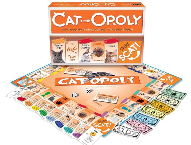 cato-poly monopoly styled board game with cats