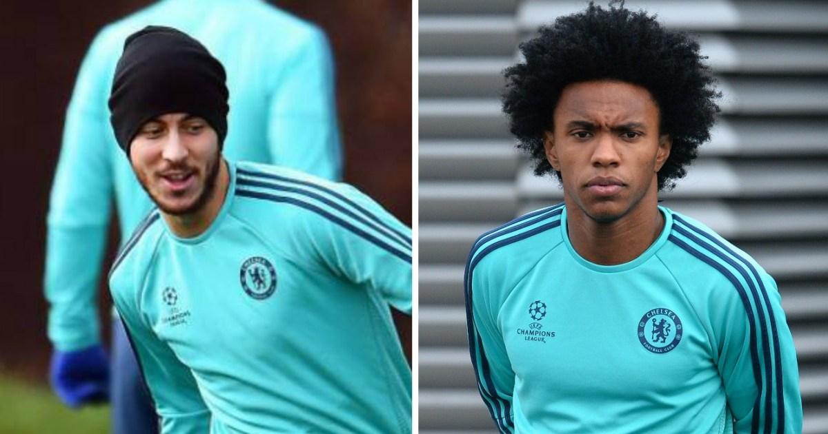 Chelsea FC's Eden Hazard and Willian targets for PSG in ...