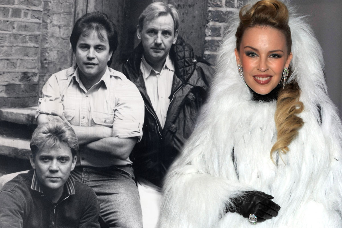 Stock Aitken Waterman are back! 80s music-making giants reunite to remix Kylie's Christmas single