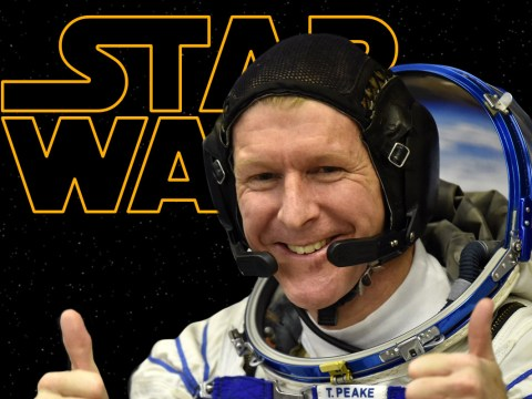 British astronaut Tim Peake is going to watch Star Wars whilst living it in space
