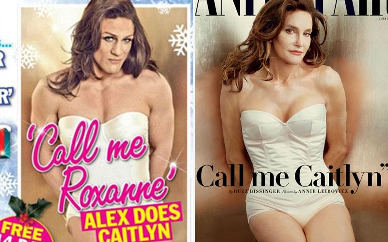 Alex Reid recreates Caitlyn Jenner's Vanity Fair cover and calls himself trans