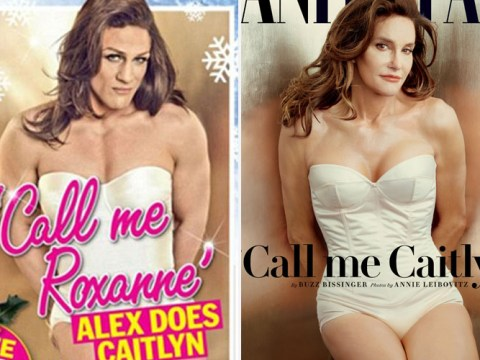 Alex Reid recreates Caitlyn Jenner's Vanity Fair cover and calls himself trans