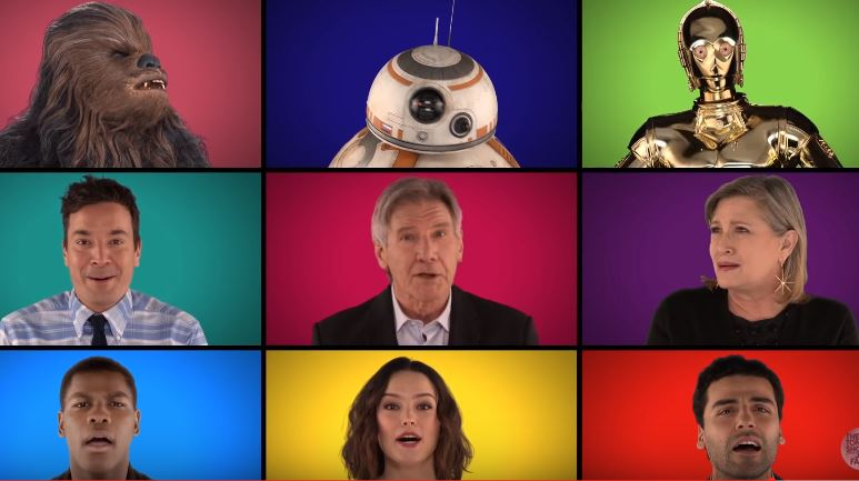 WATCH: Star Wars cast join in weird theme tune megamix that will make your day