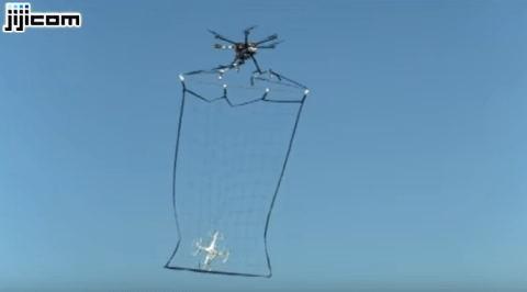 Tokyo Police have a drone squad that catches smaller drones