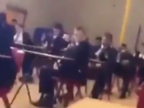 Arsenal fan appears to sing 'What do you think of Tottenham?' in the middle of his exam