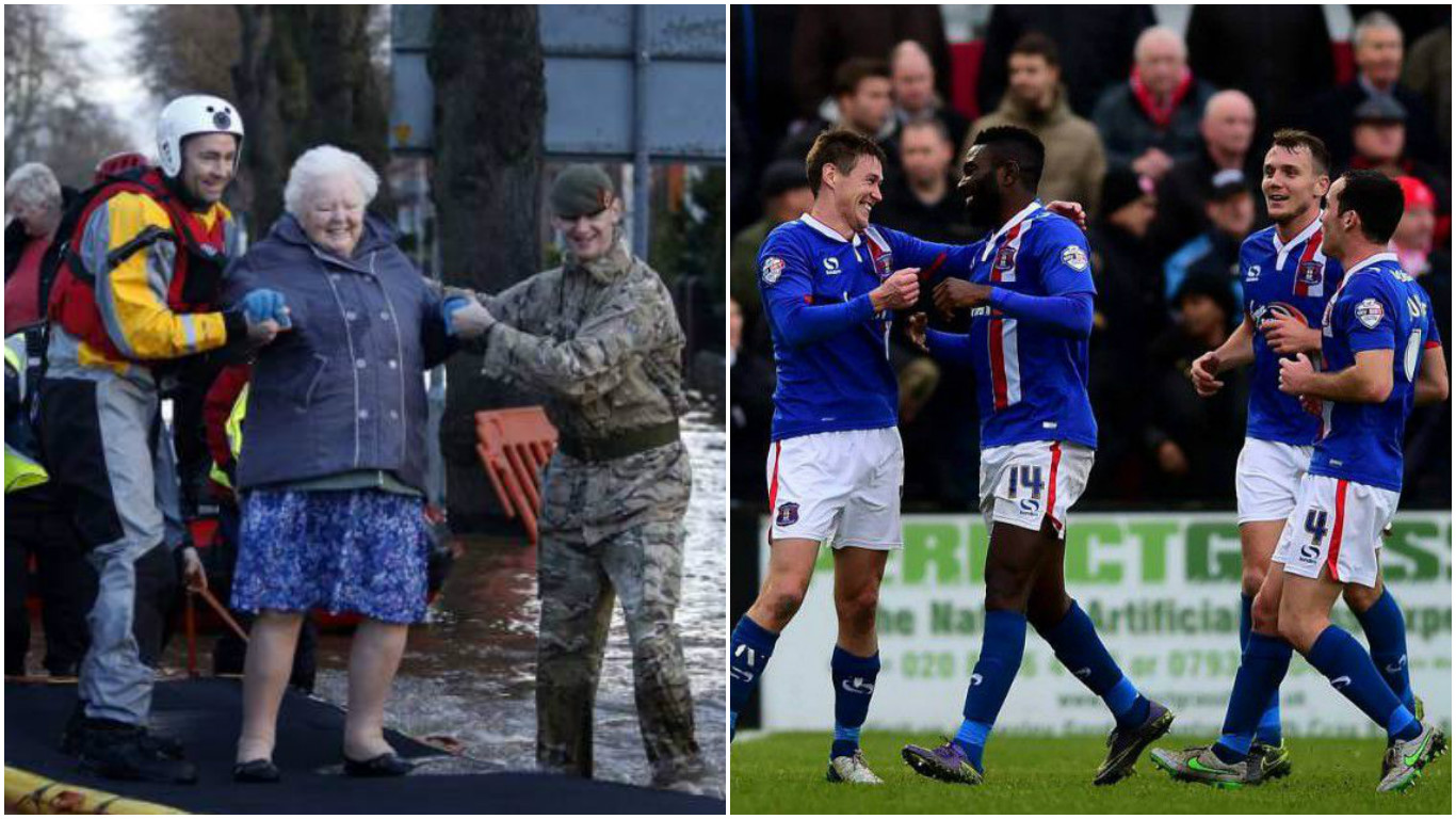 Carlisle United players rally to help those affected in floods caused by Storm Desmond