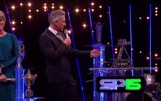 Gary Lineker cut his hand on the Sports Personality of the Year trophy