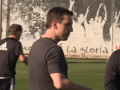 Watch Gary Neville meet Valencia players and take first training session as manager