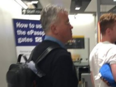 Guus Hiddink pictured at Heathrow airport as he's apparently set to become Chelsea manager