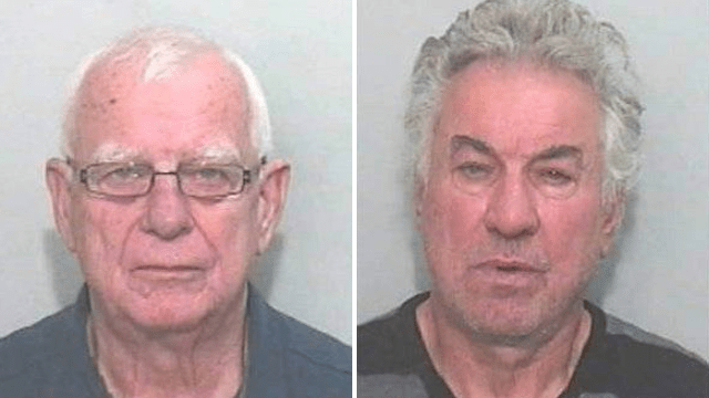 Michael Kinkaid, left, and Anthony Wright, right (Picture: SWNS)