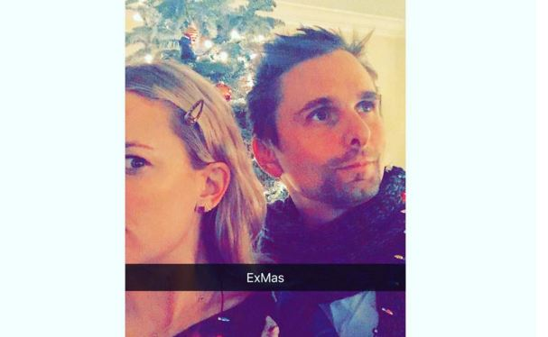 Kate Hudson and Matt Bellamy are sharing 'Exmas' together