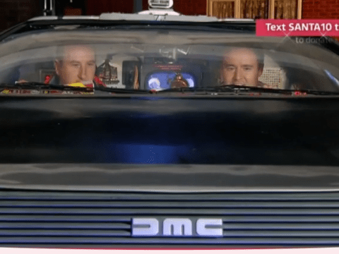 TEXT SANTA: Coronation Street's Kirk and Tyrone go back in time in a DeLorean