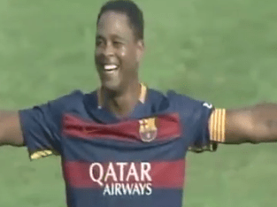Ex-Newcastle and Barcelona hero Patrick Kluivert scores stunning first-time 40-yard wondergoal