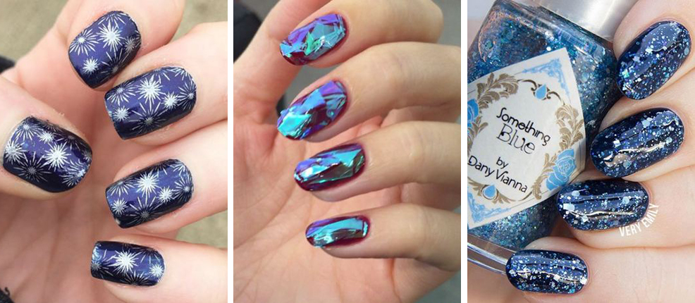 12 ideas for New Year\u0027s Eve nails art from glitter to broken