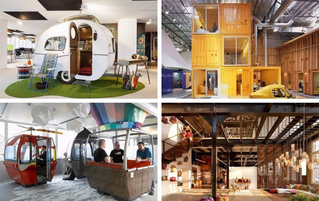 some of the best office designs from google to urban outfitters