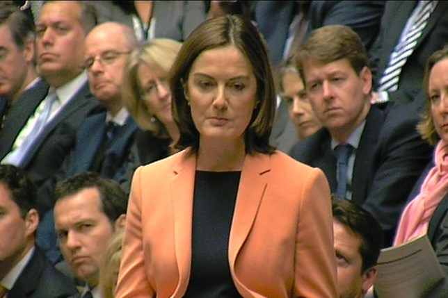Lucy Allan, Conservative MP for Telford, speaking during Prime Minister's Questions in the House of Commons, London. PA