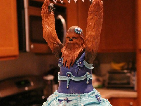 Little girl gets the princess Chewbacca cake she'd always wanted