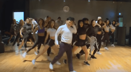 Psy Daddy dance practice