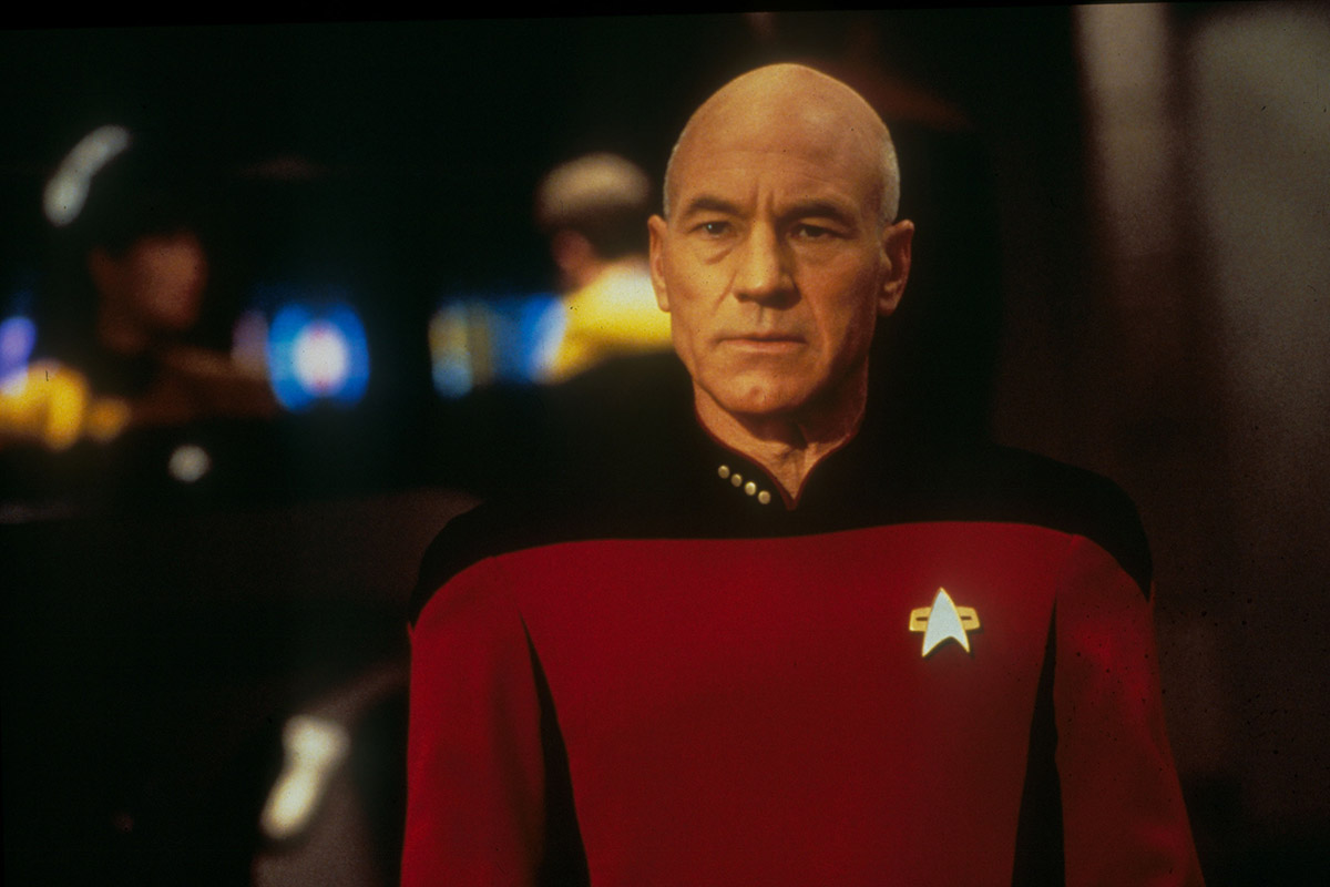 No Merchandising. Editorial Use Only. No Book Cover Usage. Mandatory Credit: Photo by Moviestore/REX Shutterstock (1602343a) Star Trek: Generations, Patrick Stewart Film and Television